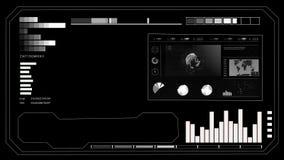 Futurystyczny wirtualny interfejs użytkownika HUD i set infographic elementy zbiory