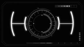Futurystyczny wirtualny interfejs użytkownika HUD i set infographic elementy zbiory wideo