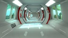 Futurystyczny wnętrza i scifi miasto Zdjęcie Royalty Free
