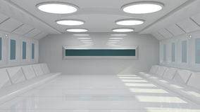 futurystyczny, wnętrze Zdjęcia Stock