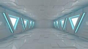 futurystyczny, wnętrze Obraz Royalty Free