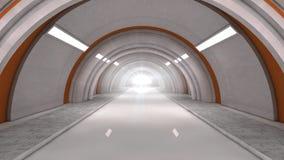 futurystyczny, wnętrze Obrazy Royalty Free