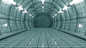 Futurystyczny wnętrze ilustracji
