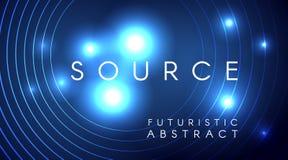 Futurystycznych lekkich cząsteczek tła abstrakcjonistyczny projekt ilustracji