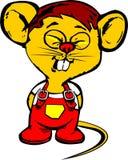 fuuny鼠标黄色 免版税库存图片