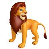 Fuuny Lion cartoon character Royalty Free Stock Photos