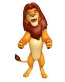 Fuuny Lion cartoon character Royalty Free Stock Photo