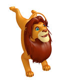 Fuuny Lion cartoon character Stock Images