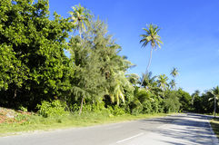 Fuvahmulah发展了路 库存照片