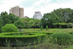 Fuxingspark, Shanghai stock foto's