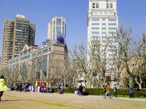 Fuxingspark van Shanghai stock foto