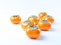 Fuyu Persimmon fresca, deliziosa, matura, organica Fotografie Stock