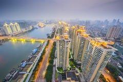 Fuzhou, arquitetura da cidade de China fotos de stock royalty free