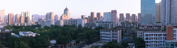Fuzhou, China. The city is concentrated within a certain area of the political, economic, cultural, religious, and other land and population center is located Stock Photos