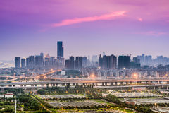 Fuzhou Chiny pejzaż miejski Obrazy Royalty Free