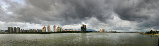 Fuzhou cityscape Panorama Stock Image
