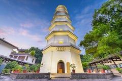 Fuzhou, Fujian, China at the White Pagoda. At twiilght stock photography