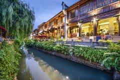 Fuzhou Kina traditionellt shoppingområde Fotografering för Bildbyråer