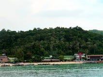 Fuzileiro naval da praia da ilha do pi do pi - Tailândia Imagens de Stock