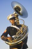 Fuzileiro naval do African-American com tuba Fotos de Stock