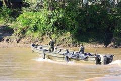 Fuzileiros navais no rio Guaviare Imagens de Stock