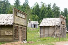 Wild west movie set ,North of Fuzine , Croatia Royalty Free Stock Photography
