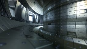 Fuzja reaktoru Tokamak Reakci sala Fuzi władza 3d illus Obrazy Stock