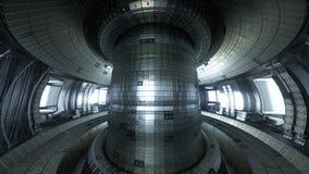 Fuzja reaktoru Tokamak Reakci sala Fuzi władza 3d illus Zdjęcie Stock