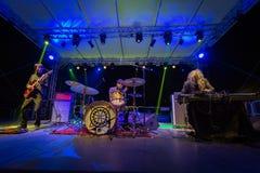 Fuzz orkiestra żywa przy Rockowym sul Serio festiwalem BG 20-07-2017 Zdjęcie Royalty Free