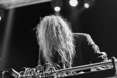 Fuzz orkiestra żywa przy Rockowym sul Serio festiwalem BG 20-07-2017 Zdjęcia Stock