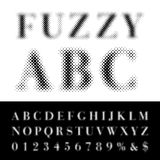 Fuzzy abc Stock Image