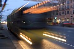 fuzzy autobus ruch Zdjęcie Royalty Free
