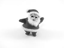Fuzzy Black e Santa Claus branca Fotos de Stock Royalty Free