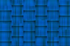 Fuzzy blue background with architectonic 3d shadows stock photos