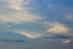 Fuzzy cloud on the blue sky. Royalty Free Stock Images