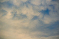Fuzzy cloud on the blue sky. Royalty Free Stock Image