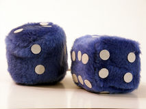 Fuzzy dice Stock Photo