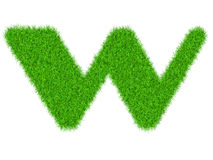 Fuzzy font made of grass texture. Stock Photography