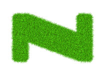 Fuzzy font made of grass texture. Royalty Free Stock Images