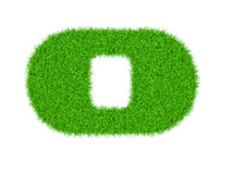 Fuzzy font made of grass texture. Royalty Free Stock Photo