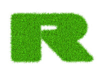 Fuzzy font made of grass texture. Royalty Free Stock Photography