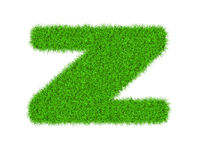 Fuzzy font made of grass texture. Stock Images