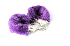 Fuzzy Hand Cuffs. Used for sexual acts Stock Photography