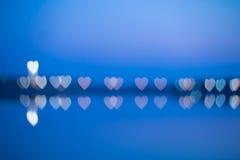 Fuzzy heart-shaped lights Royalty Free Stock Photos