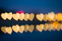 Fuzzy heart-shaped lights Royalty Free Stock Images
