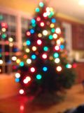 Fuzzy Holiday Lights Royalty Free Stock Photography