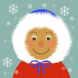 Fuzzy hood Stock Image