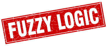 Fuzzy logic stamp Royalty Free Stock Photography
