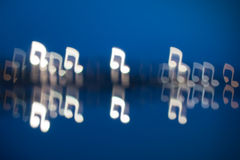 Fuzzy music notation shaped lights Stock Photo