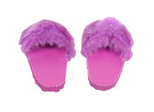 Fuzzy Pink Slippers Stock Photo